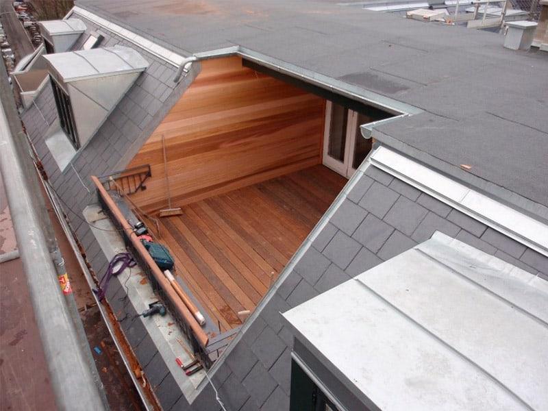 indbygget terrasse