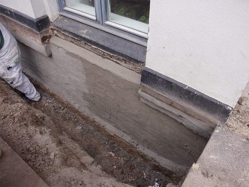 renovering af fundament
