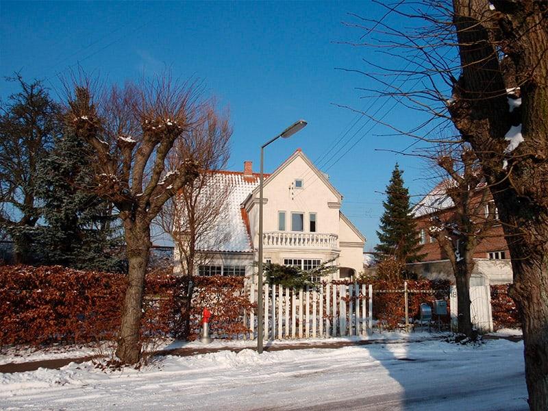 gade med sne