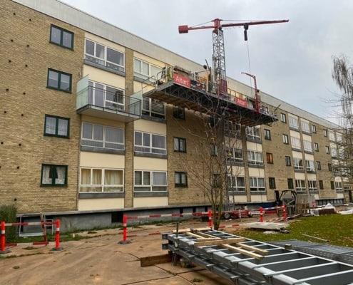 renovering af bygning