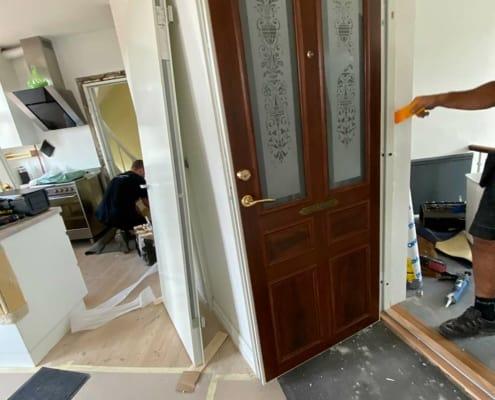 renovering og ny hoveddør